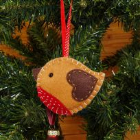 Robin Felt Christmas Tree Decoration